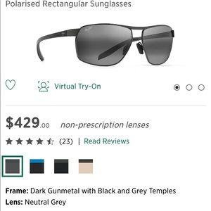 Brand New - Maui Jim Grey Bird Sunglasses